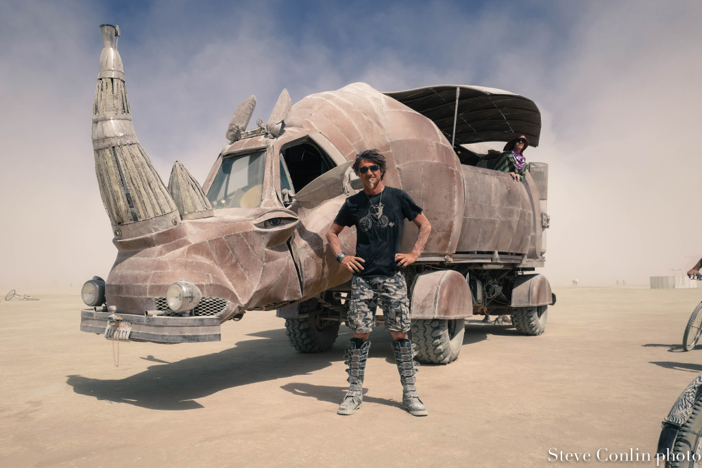 This gentleman is the maker of this art car as well as the Medusa metal work you'll see in a different pic. I need to find his name.