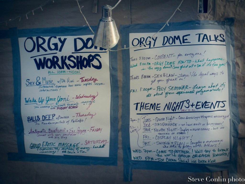 Orgy Dome events.