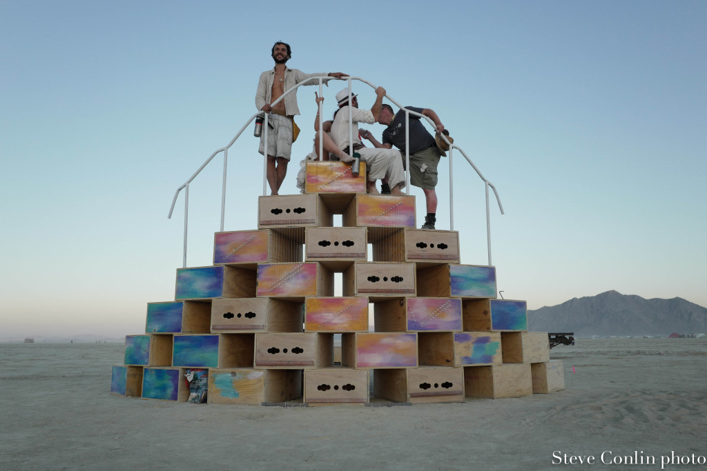 An art installation in the playa.
